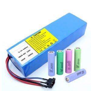 Kuirilaro de Litio 18650 60V 12AH litio reŝargebla skotera baterio