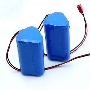 Reŝargebla Li-jona 3S1P 18650 10.8v 2250mah Litia jona baterio-pakaĵo por medicina aparato