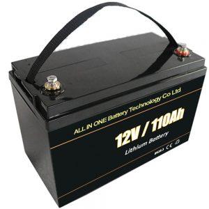 Plumacida anstataŭiga suna stokada baterio 12V 110Ah lifepo4-litia baterio
