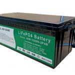ĈIO EN UNU 2.56KWh 2000 cikloj 12v-bateria lifepo4 200ah litia pako por elektra veturilo