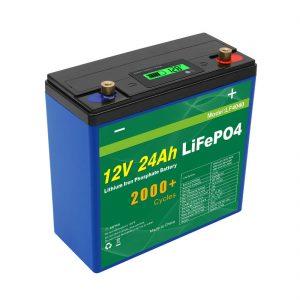 Suna Profunda Ciklo 24v 48v 24ah Lifepo4-Bateria Pako UPS 12v 24ah-Baterio