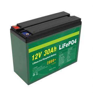 OEM-baterio reŝargebla 12V 30Ah 4S5P Litio 2000+ Profunda Ciklo Lifepo4-Ĉela Fabrikisto