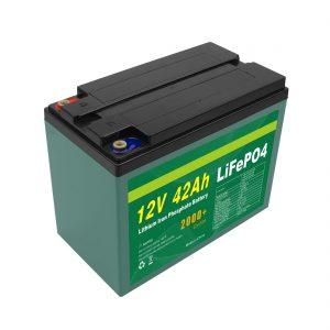 Prizorgado Agordita Suna 12v 40ah 42ah Lifepo4-Ĉela Lifepo4-Bateria Pako Kun BMS