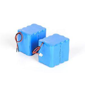 Agordita reŝargebla litia baterio 18650 alta malŝarĝo 3s4p 12v li-jona baterio