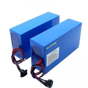 ĈIO EN UNU ĉeloj 13S7P 18650 48v 20.3ah elektra bicikla baterio
