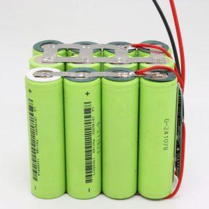 Pogranda personecigita 18650-litia 4s3p-akvorezista PCB-tabulo profunda ciklo-baterio 12v 10AH por elektra ilo