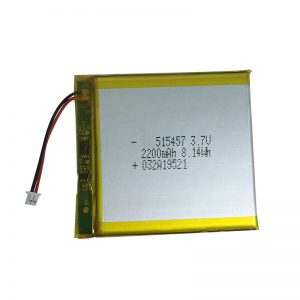 3.7V 2200mAh-polimeraj litiaj baterioj por inteligentaj hejmaj aparatoj
