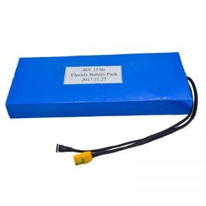 Pogranda 15Ah 48V-litia baterio por elektra skotero