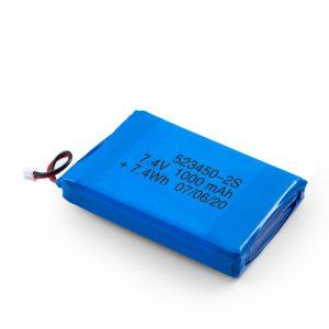Kuirila Baterio LiPO 523450 3.7V 1000mAH / 7.4V 1000mAH / 3.7V 2000mAH