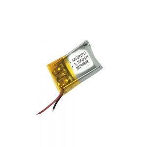 Altkvalita litia polimera baterio 3.7V 50mAh 581013 baterio
