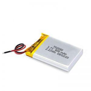 Ĉina Pogranda 3.7V 600Mah 650Mah Mini-Li-Polimeraj Litiaj Baterioj Reŝargeblaj Baterioj Por Ludila Aŭto