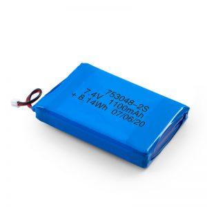 Kuirila Baterio LiPO 753048 3.7V 1100mAh / 7.4V 1100mAH / 3.7V 2200mAH