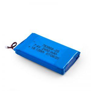 Kuirila Baterio LiPO 783968 3.7V 4900mAH / 7.4V 2450mAH / 3.7V 2450mAH /