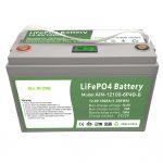 ĈIO EN UNU Profunda ciklo 12V100Ah LiFePO4-Baterio kun inteligenta BMS por hejma Energia Stokado
