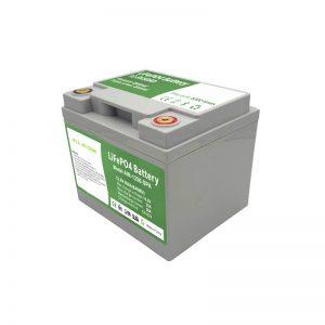 ĈIO EN UNU 2000 cikloj 12V50Ah LiFePO4-Baterio kun inteligenta BMS por hejma Energia Stokada Sistemo
