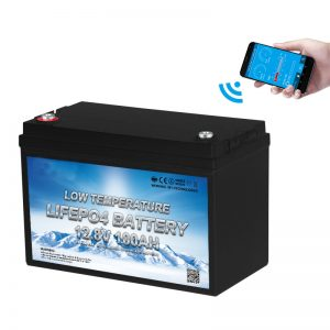 Baterio LiFePO4 de Malalta Temperaturo 12V 100AH