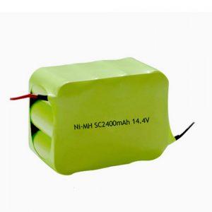 Reŝargebla Baterio NiMH SC 2400mAH 14.4V