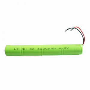 NiMH Reŝargebla Baterio SC 3600mAH 4.8V