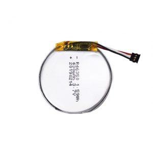 LiPO Agordita Baterio 46350 3.7V 350mAH inteligenta horloĝa baterio 46350 malgranda plata ronda litio-polimera kuirilaro por ludiloj