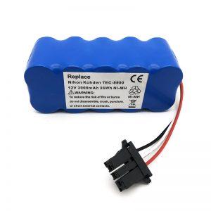 12v ni-mh-baterio por polvosuĉilo TEC-5500, TEC-5521, TEC-5531, TEC-7621, TEC-7631